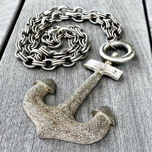Vendome Vintage Anchor Pendant Necklace